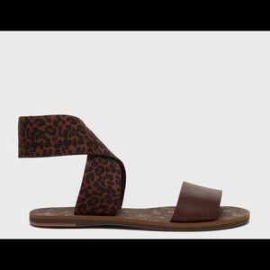Pacific Leopard Wrap Ankle Sandal